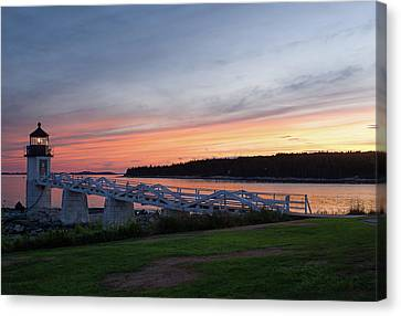 Marshall Point Lighthouse, Port Clyde, Maine -87444 Canvas Print by John Bald