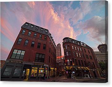 Marshall Street Sunset Boston Ma Canvas Print by Toby McGuire