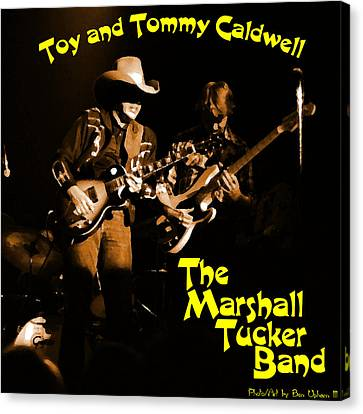 Marshall Tucker Winterland 1975 #14 Enhanced In Amber With Text Canvas Print