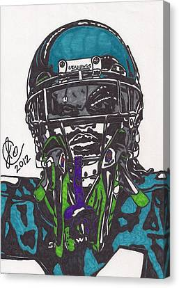 Marshawn Lynch 1 Canvas Print by Jeremiah Colley