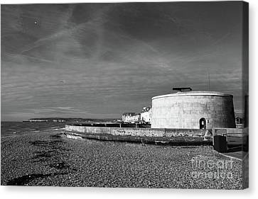 Martello Tower Number 74 Seaford Sussex Canvas Print by James Brunker