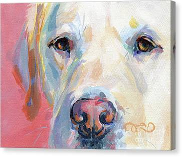 Labradors Canvas Print - Martha's Pink Nose by Kimberly Santini