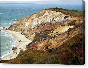 Marthas Vinyard Ocean Cliff Canvas Print