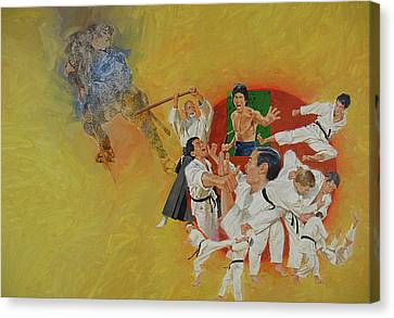 Canvas Print featuring the painting Martial Arts by Cliff Spohn