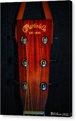 Martin And Co. Headstock Canvas Print by Bill Cannon