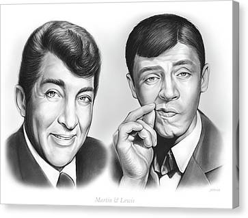 Martin And Lewis Canvas Print by Greg Joens