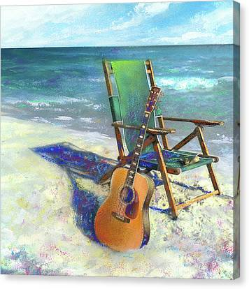 Guitar Canvas Print - Martin Goes To The Beach by Andrew King