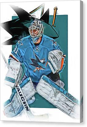 Martin Jones San Jose Sharks Oil Art Canvas Print