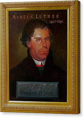 Martin Luther Canvas Print by Alan Carlson