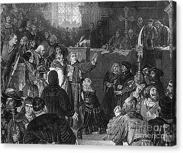 Martin Luther, Imperial Diet Of Worms Canvas Print by Photo Researchers, Inc.