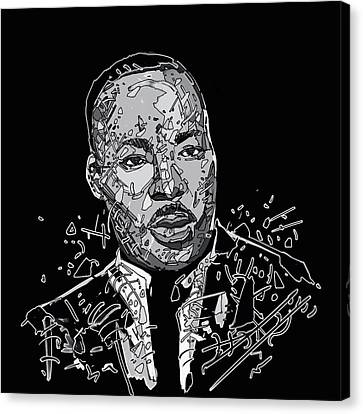 African Americans Canvas Print - Martin Luther King  by Bekim Art