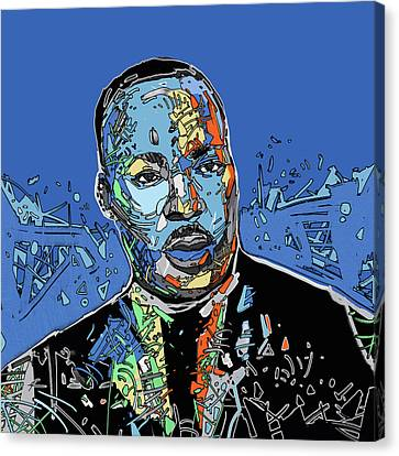 African Americans Canvas Print - Martin Luther King Color by Bekim Art