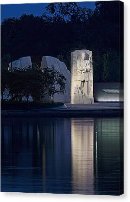 Martin Luther King Jr Memorial Overlooking The Tidal Basin - Washington Dc Canvas Print by Brendan Reals