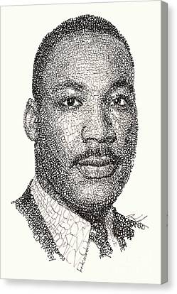 Martin Luther King Jr Canvas Print by Michael Volpicelli