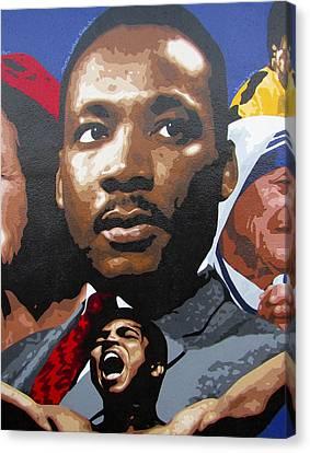 Martin Luther King, Jr. Canvas Print by Roberto Valdes Sanchez