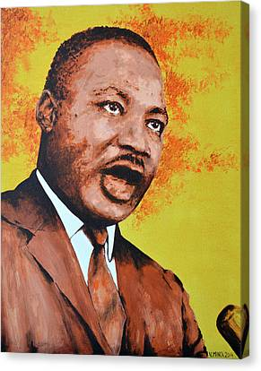 Martin Luther King Canvas Print by Victor Minca