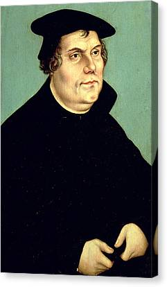 Reform Canvas Print - Martin Luther  by Lucas the elder Cranach