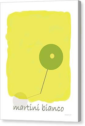 Alchol Canvas Print - Martini Bianco by Yagil Weiler