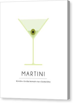 Martini Classic Cocktail - Minimalist Print Canvas Print
