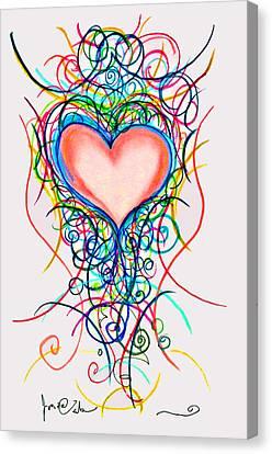 Martini Heart Canvas Print by Jon Veitch