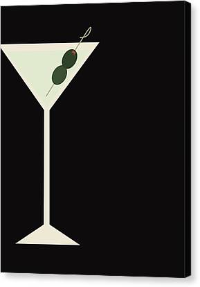Martini Canvas Print by Julia Garcia