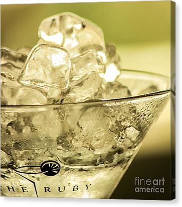 Martini On Ice Canvas Print by Rene Triay Photography