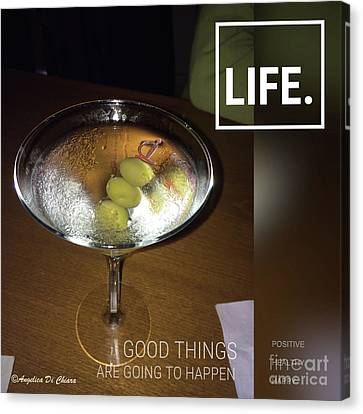 Martini - Quote Canvas Print by Italian Art