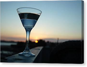 Martini Sunset Canvas Print by John Finch
