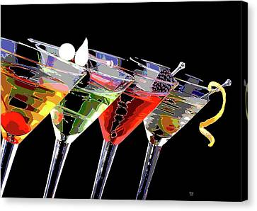 Booze Canvas Print - Martini Time by Charles Shoup