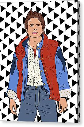 Marty Mcfly Canvas Print by Nicole Wilson