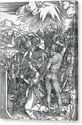 Martyrdom Of Saint Catherine Canvas Print by Albrecht Durer