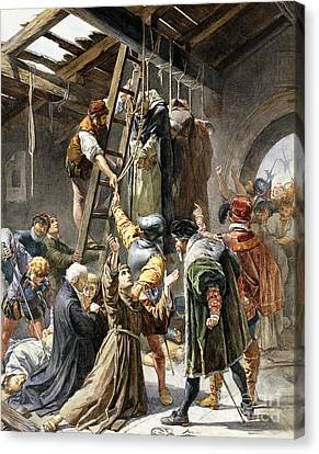 Shed Canvas Print - Martyrs Of Gorkum by Paolino Pavesi
