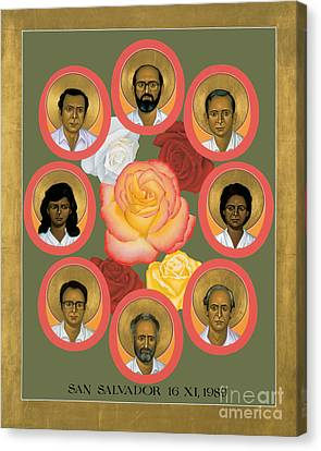 Martyrs Of The Jesuit University - Rlmju Canvas Print by Br Robert Lentz OFM