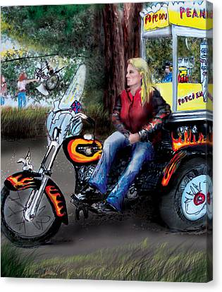 Marty's Harley Canvas Print