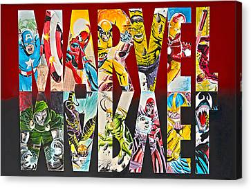 Marvel Hero's And Villain's  Canvas Print by James Holko
