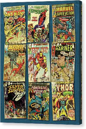 Marvel Super Heroes Canvas Print by Russell Pierce