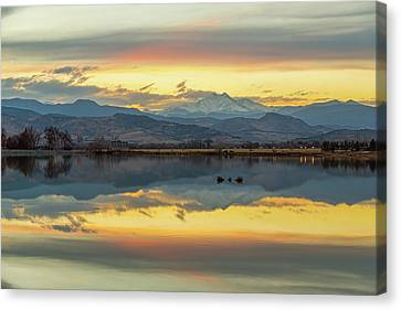 Canvas Print featuring the photograph Marvelous Mccall Lake Reflections by James BO Insogna