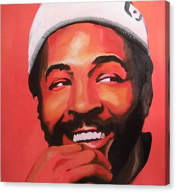 Marvin Gaye Canvas Print by Matt Burke