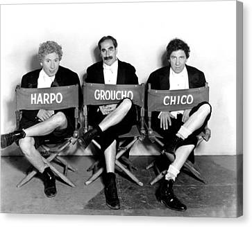 Marx Brothers - Harpo Marx, Groucho Canvas Print by Everett