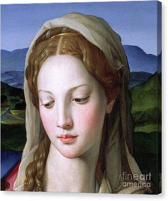 Mary Canvas Print by Agnolo Bronzino