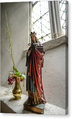 Our Blessed Lady At St Margaret Of Antioch Canvas Print by Alex Blondeau