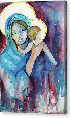 Mary And Baby Jesus Canvas Print by Mary DuCharme