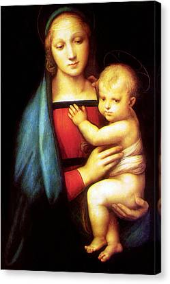 Mary And Baby Jesus Canvas Print by Munir Alawi