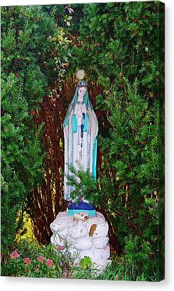 Mary And Orb Canvas Print by Don Youngclaus