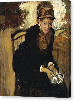 Mary Cassatt Canvas Print by Edgar Degas