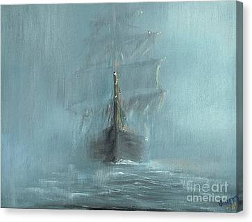 Ghost Story Canvas Print - Mary Celeste by Vincent Alexander Booth