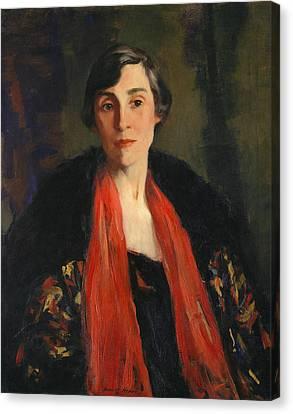 Mary Fanton Roberts Canvas Print by Robert Henri