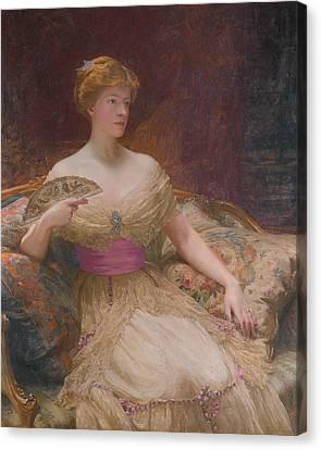 Mary Frances Mackenzie Canvas Print by Frank Dicksee