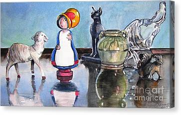 Mary Had Many Little Things Canvas Print