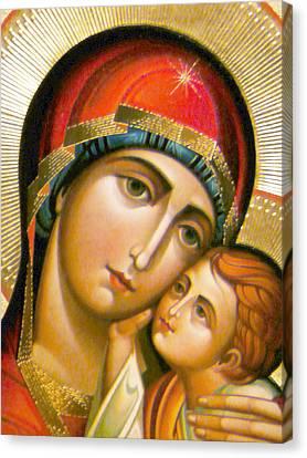 Mary Icon Canvas Print by Munir Alawi